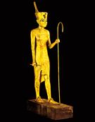 下エジプト王冠を被った ツタンカーメンの像